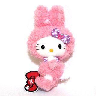 "Sanrio 9.5"" Bunny Hello Kitty Pink Plush Stuffed Doll Toys & Games"