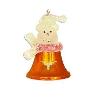 "Texas Longhorns 2.5"" Snowman Bell Ornament  Sports Fan Hanging Ornaments  Sports & Outdoors"