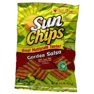 Sunchips Multigrain Snacks, Garden Salsa, 1.5 Ounce Large Single Serve Bags (Pack of 64)  Potato Chips  Grocery & Gourmet Food