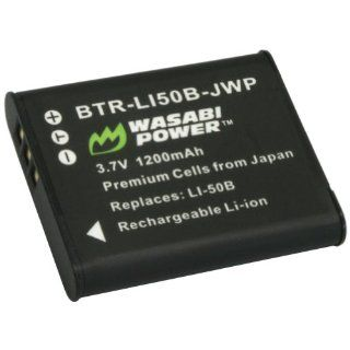 Wasabi Power Battery for Olympus LI 50B and Olympus Stylus 1010, 1020, 1030, 9000, 9010, SP 720UZ iHS, SP 800UZ, SP 810UZ, SZ 10, SZ 11, SZ 12, SZ 15, SZ 16 iHS, SZ 20, SZ 30MR, SZ 31MR iHS, Tough 6000, 6020, 8000, 8010, TG 610, TG 620 iHS, TG 630 iHS, TG