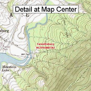 USGS Topographic Quadrangle Map   Fannettsburg, Pennsylvania (Folded/Waterproof)  Outdoor Recreation Topographic Maps  Sports & Outdoors