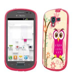 Samsung Galaxy Exhibit T599 Gem Shield Durable Flexible TPU Design Shield Daisy Owl: Cell Phones & Accessories