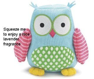 "Hootie Cutie 9"" Knit Owl Plush with Lavender Toys & Games"