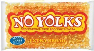 No Yolks Egg Noodles, Extra Broad, 12 oz (Pack of 12)  Grocery & Gourmet Food