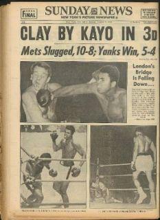 SUNDAY NEWS Cassius Clay Brian London Joe Namath Yankees Pat Nugent 8/7 1966 Entertainment Collectibles