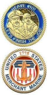 CHALLENGE COIN UNITED STATES MERCHANT MARINE Clothing