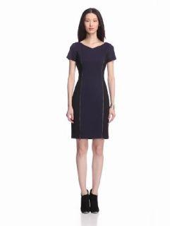 ELIE TAHARI Women's Erica Jersey Short Sleeve Dress with Zipper Detail at  Women�s Clothing store