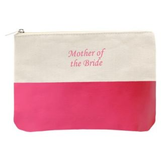 Mother of the Bride Color Dipped Canvas Clutch