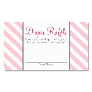 Baby Shower Games   Diaper Raffle Tickets   774 Business Card Template  Business Card Stock