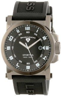 Swiss Legend Men's 40030 GM 01 Sportiva Black Textured Dial Black Silicone Watch Watches
