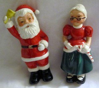 "Vintage Santa & Mrs. Claus Christmas Salt and Pepper Shakers 5""   Made in Japan Mr And Mrs Claus Salt And Pepper Shakers Kitchen & Dining"