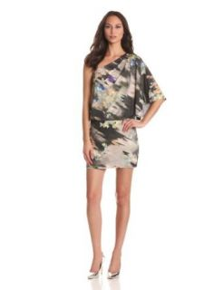 Jessica Simpson Women's One Shoulder Dress, Prismatic Ash, Small at  Women�s Clothing store