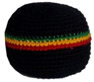 Rasta 3 Stripe Hacky Sack / Footbag   Hand Crocheted Made in Guatemala   Comes with Tips & Game Instructions   G4: Sports & Outdoors