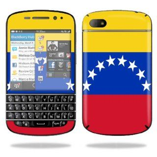 MightySkins Protective Vinyl Skin Decal Cover for BlackBerry Q10 Cell Phone SQN100 3 Sticker Skins Venezuela Flag: Computers & Accessories