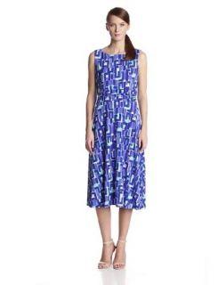 Jessica Howard Women's Sleeveless Ruched Waist Dress at  Women�s Clothing store: