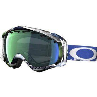 Oakley JP Auclair Crowbar Slide Show Men's Special Editions Signature Series Snowsport Snowmobile Goggles Eyewear   Emerald Iridium / One Size Fits All Automotive