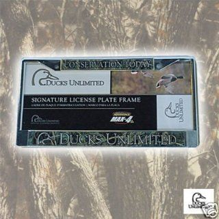 Ducks Unlimited License Plate Frame Wide Sports & Outdoors