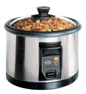 Rival RCS200 20 Cup Stainless Steel Rice Cooker Kitchen & Dining