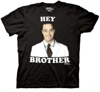 Arrested Development Hey Brother Buster Bluth Adult Black T shirt: Clothing