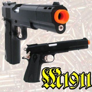 Colt Commander 1911 Gas Powered Airsoft Pistol Gun Fast  Sports & Outdoors