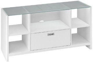 Shop Kathy Ireland New York Skyline White Credenza/TV Stand at the  Furniture Store