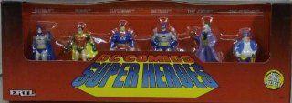 Ertl DC Comics Die Cast Superheroes Figure 6 Pack including Superman Batman Robin Joker Toys & Games