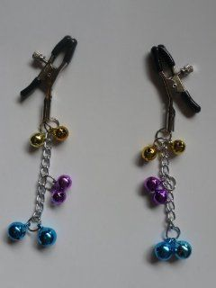 New Nipple Clamps Boob Clamps Breast Clamps with Metal Chains Bells: Health & Personal Care