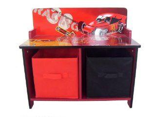 4Gr8 Kidz Racing Series Kids Wooden Storage Bench: Toys & Games