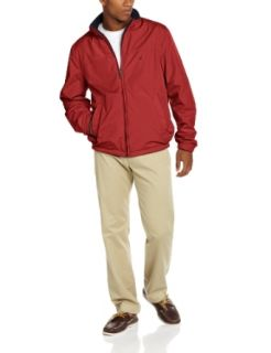 Nautica Men's Reversible Bomber, Deep Sea Red, Small at  Men�s Clothing store