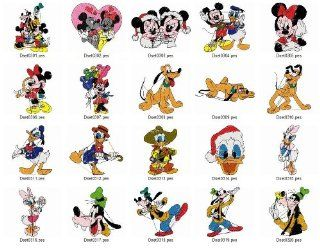 Brother Machine Embroidery Designs Mickey and Friends 2 Usb Stick