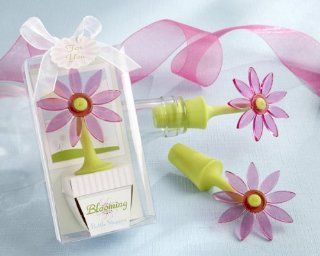 """Blooming"" Flower Bottle Stopper in Whimsical Window Gift Box   Baby Shower Gifts & Wedding Favors (Set of 24) : Baby Keepsake Boxes : Baby"