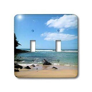 3dRose LLC lsp_22971_2 Hawaii Tropical Beach Double Toggle Switch   Switch Plates