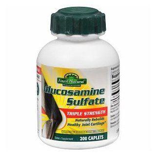 Finest Natural Glucosamine Sulfate Triple Strength Caplets, 200 ea Health & Personal Care