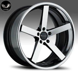 Giovanna Mecca 20x8.5 20x10 Wheels BMW 3 5 Series Staggered Machine Face Chrome Lip 4pc 1 set Automotive