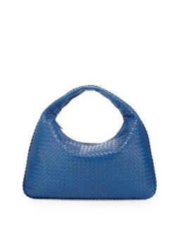 Large Lambskin Sac Hobo Bag, Royal Blue   Bottega Veneta