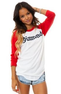 Diamond Supply Co. Women's Diamond4Life 3/4 Sleeve Raglan Large Red at  Women�s Clothing store: Fashion T Shirts