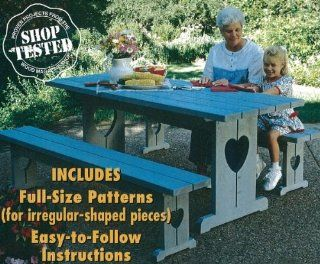 A Woodworking Pattern and Instructions Pkg to Build a Country style Picnic Table and Benches   Woodworking Project Plans