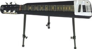 Rogue EA 3 Lap Steel Guitar with Stand and Gig Bag (Metallic Black): Musical Instruments