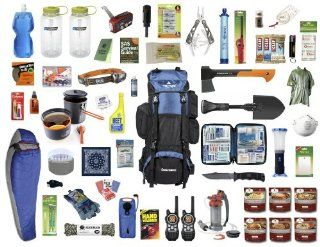 4.0 Emergency Kit Bag / Bug Out Bag / Survival Kit / Earthquake Kit : Camping First Aid Kits : Sports & Outdoors