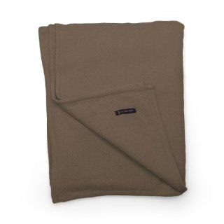 U.S. Polo Assn. 901BCT1EB 100 Percent Cotton Herringbone Blanket, Twin, Mocha   Throw Blankets