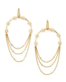 Forget Me Knot Hoop Diamond Barbed Wire Earrings   Stephen Webster