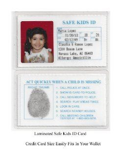 Safe Kids ID Laminated ID Cards Child ID For Kids (5 IDs For This Price): Baby