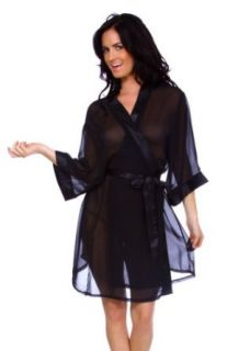 Simplicity Sexy Lady's Sheer Nighttime Robe w/ Satin Belt,: Clothing