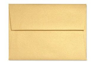 A7 Invitation Envelopes (5 1/4 x 7 1/4)   Gold Metallic (50 Qty.) : Business Envelopes : Office Products
