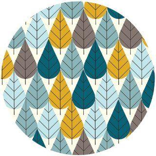 Charley Harper for Birch Fabrics Organic, CANVAS, Octoberama Blue