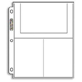 Ultra Pro 3 Pocket Pages (4X6)   100 Pages per box (Quantity of 1) [Misc.]  Sports & Outdoors