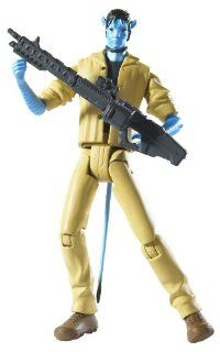 James Cameron's Avatar Na'vi Jake Sully RDA with Tan Outfit and Gun Action Figure: Toys & Games