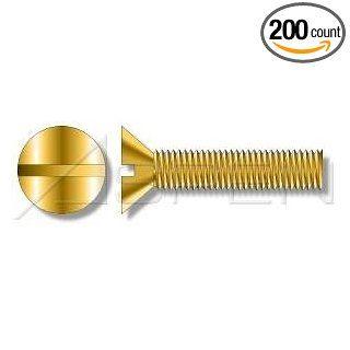 (200pcs) Metric DIN 963 M5X10 Slotted Flat Head Machine Screw Brass Ships Free in USA Industrial & Scientific
