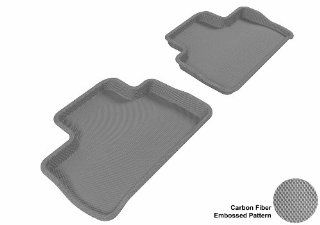 3D MAXpider Second Row Custom Fit All Weather Floor Mat for Select Land Rover LR2 Models   Kagu Rubber (Gray) Automotive
