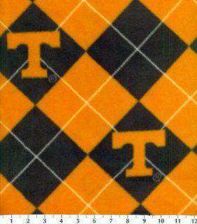 NCAA Fleece Fabric Tennessee Argyle